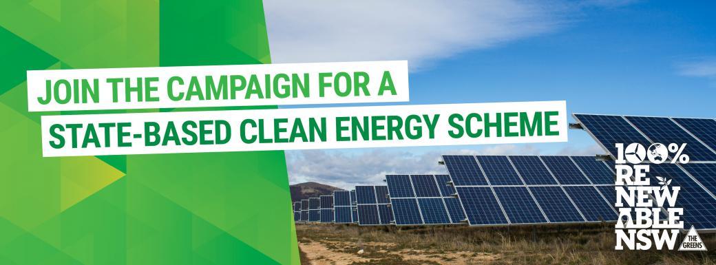 Renewable energy for NSW, John Kaye