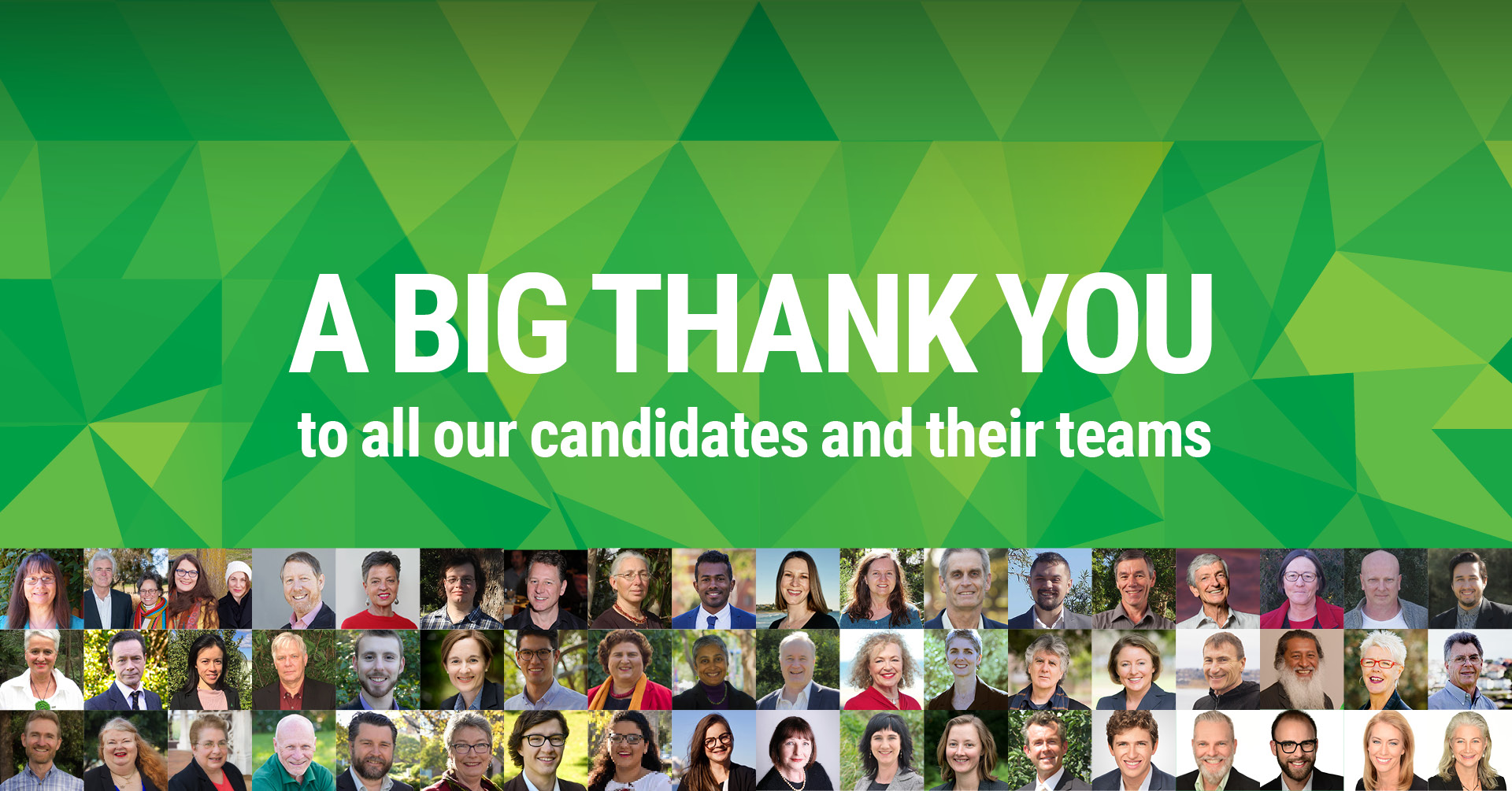 A BIG tahnk you to all our candidates and their teams