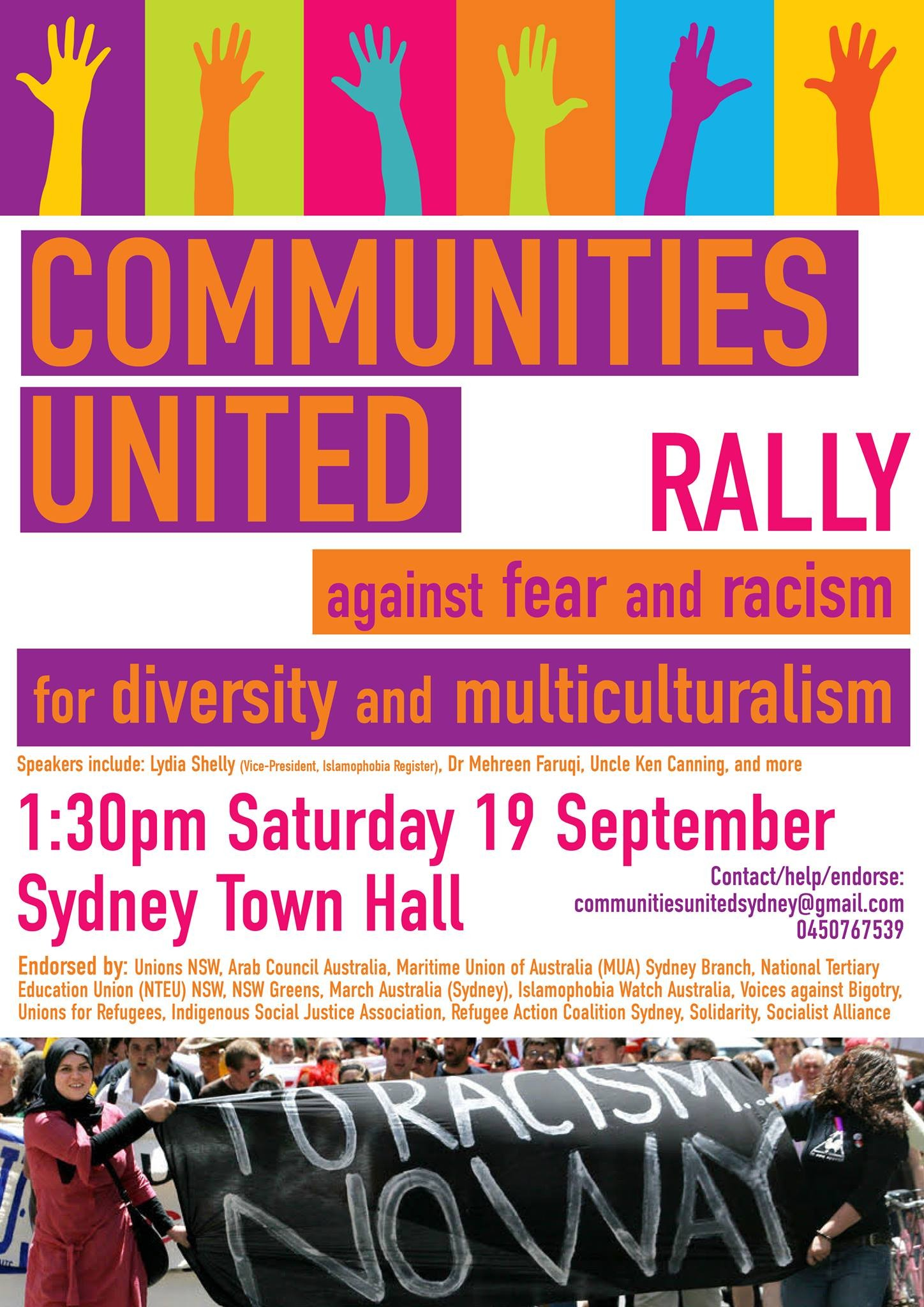 CommunitiesUnited Rally, 19 Sept 2015
