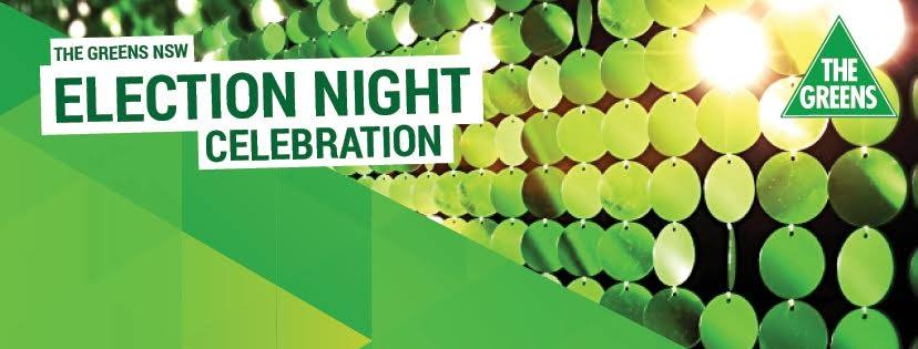 Greens federal election night party 2016