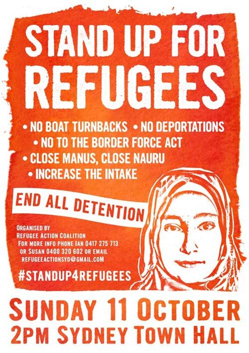 Stand Up for Refugees rally, 11 Oct 2015