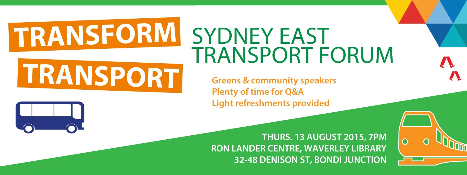 Transform Transport, Sydney East, Mehreen Faruqi