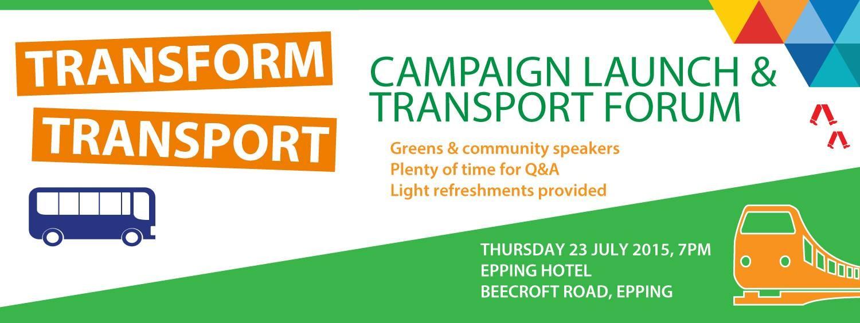 Transform Transport launch, with Mehreen Faruqi and Lee Rhiannon
