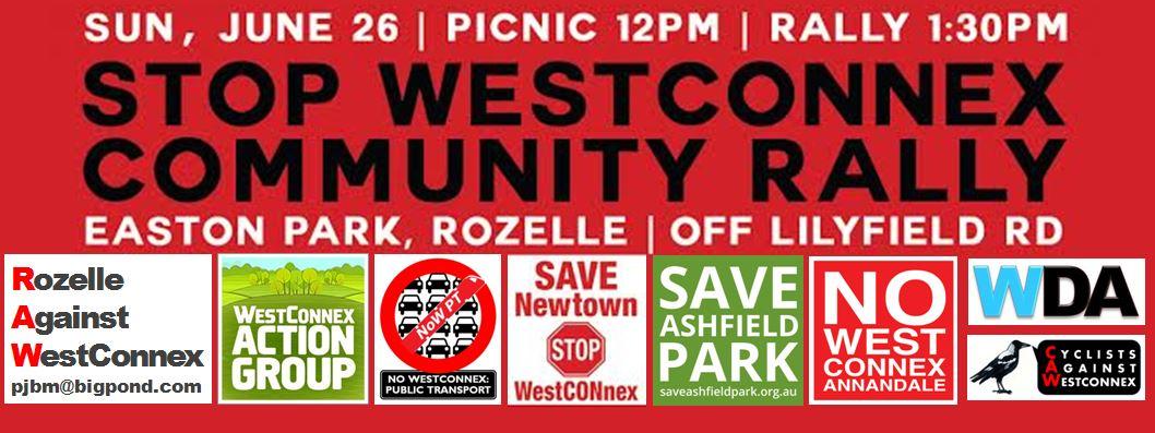 WestConnex rally