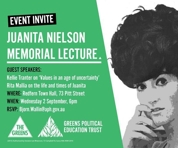 Juanita Nielsen Memorial Lecture 2015