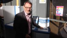 John Kaye, MLC votes in Coogee Electorate.